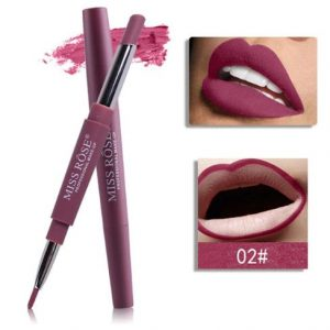 MISS ROSE 14 Color Double-end Lipsticks Lasting Lipliner Waterproof