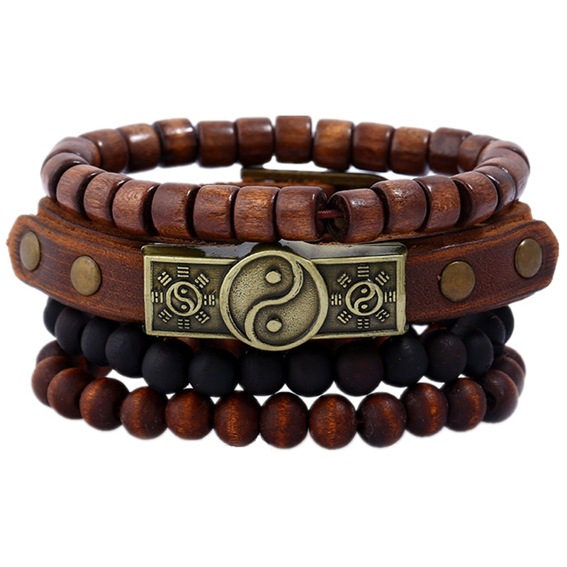 Valentine Gift Handmade Trendy Wooden Bracelets For Male Female